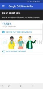 Google Ödüllü Anket Programı