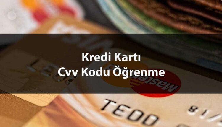 Kredi kartı cvv öğrenme