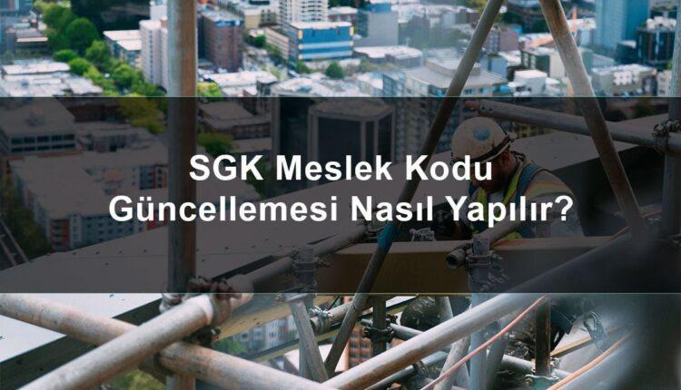 SGK Meslek Kodu güncellemesi için dilekçe örneği